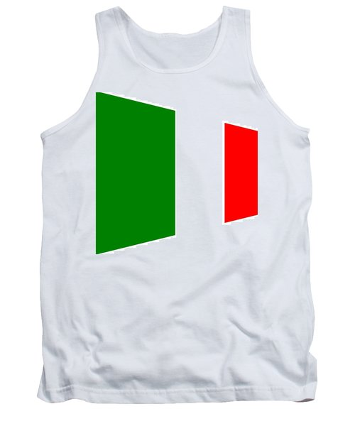 contemporary Italian Flag Tank Top