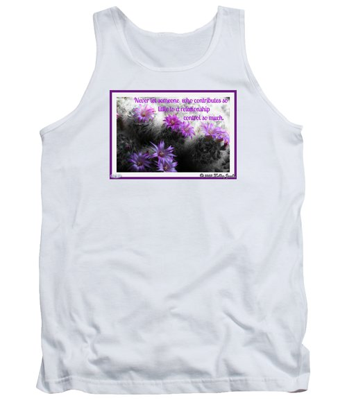 Tank Top featuring the digital art Contributes So Little by Holley Jacobs
