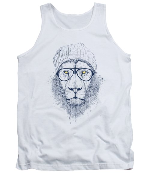 Cool Lion Tank Top by Balazs Solti