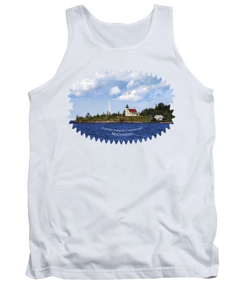 Copper Harbor Lighthouse Tank Top