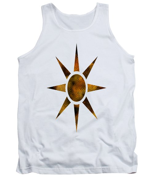 Copper Spirals Abstract Square Tank Top
