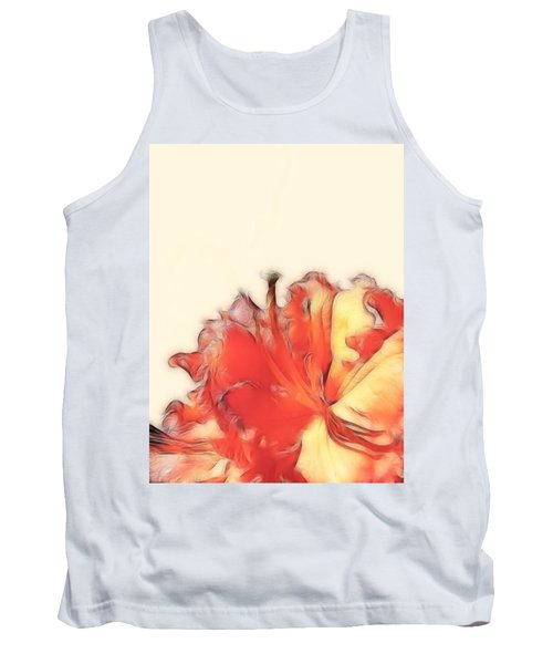 Coral Rhododendron Tank Top