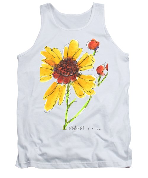Coreopsis By Kathleen Mcelwaine Tank Top