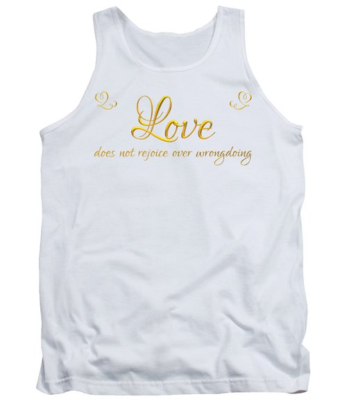 Corinthians Love Does Not Rejoice Over Wrongdoing Tank Top