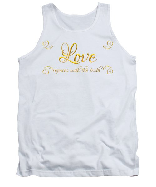 Corinthians Love Rejoices With The Truth Tank Top