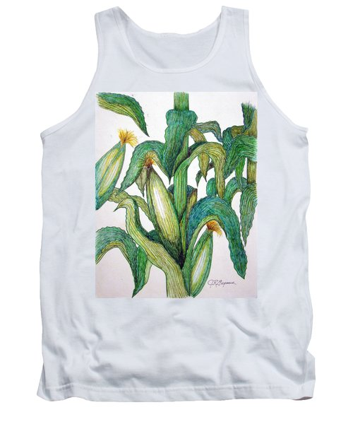 Corn And Stalk Tank Top by J R Seymour