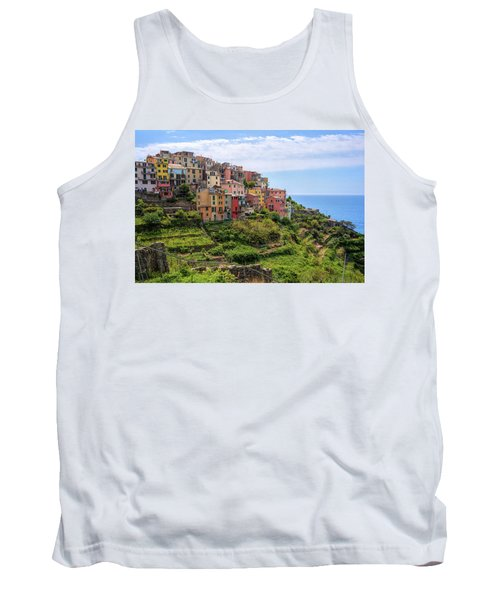 Tank Top featuring the photograph Corniglia Cinque Terre Italy by Joan Carroll