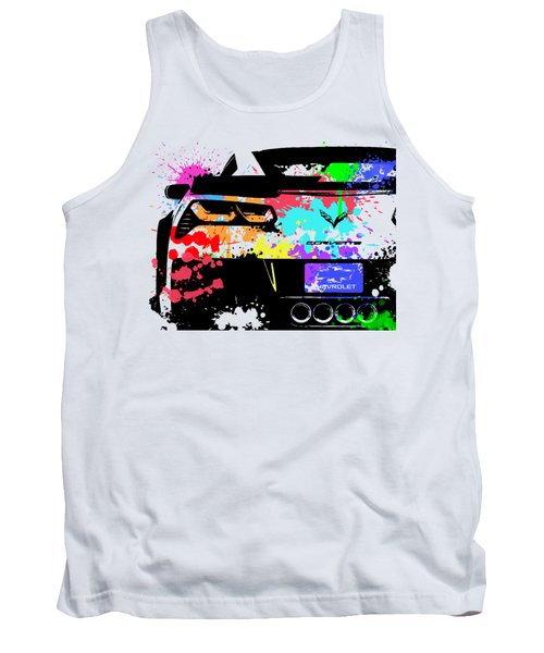 Corvette Pop Art 1 Tank Top