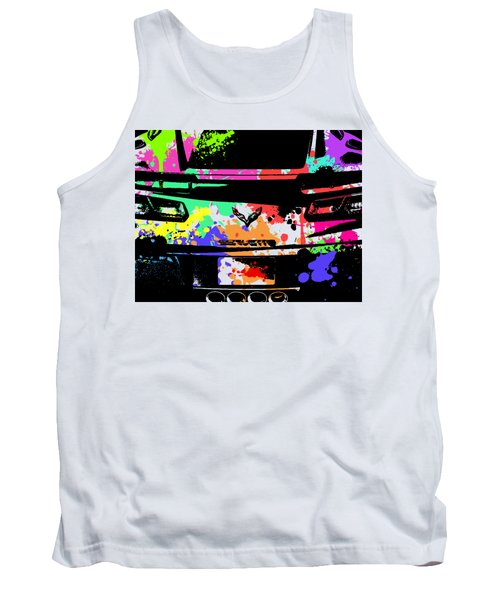 Corvette Pop Art 2 Tank Top