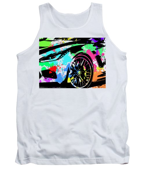 Corvette Pop Art 3 Tank Top