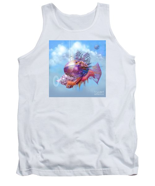 Cosmic Fish Spaceship Tank Top