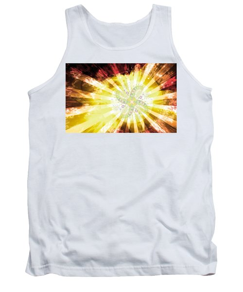 Cosmic Solar Flower Fern Flare 2 Tank Top