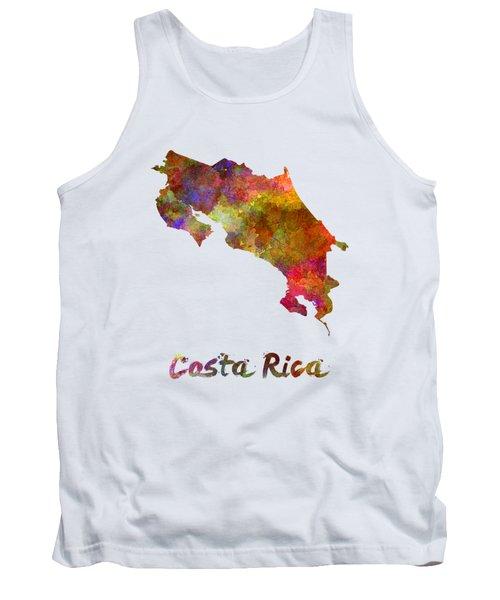 Costa Rica In Watercolor Tank Top