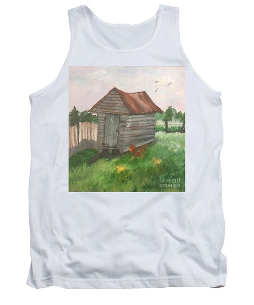 Tank Top featuring the painting Country Corncrib by Lucia Grilletto