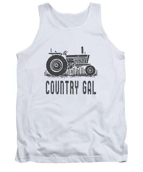 Country Gal Tractor Tee Tank Top