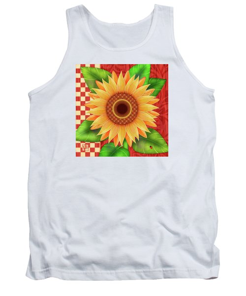 Country Sunflower Tank Top
