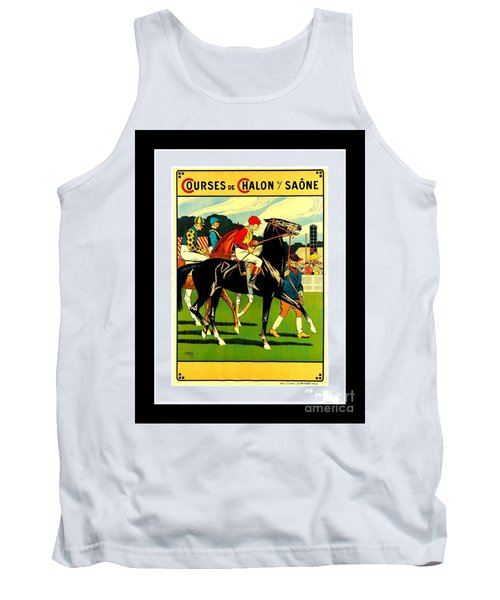 Courses De Chalon French Horse Racing 1911 II Leon Gambey Tank Top