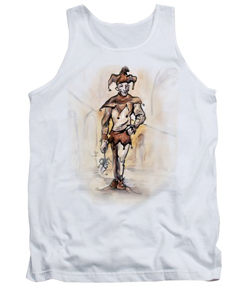 Tank Top featuring the painting Court Jester by Kevin Middleton