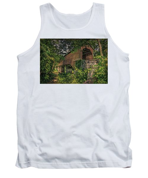 Tank Top featuring the photograph Covered Bridge by Lewis Mann