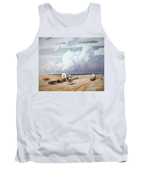 Covered Wagons Heading West Tank Top