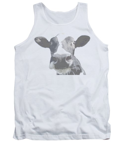 Cow - Cross Hatching Tank Top