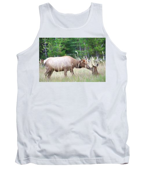 Cow Elk And Spring Baby Tank Top