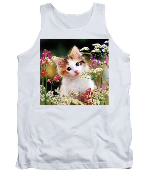 Cow Parsley Cat Tank Top