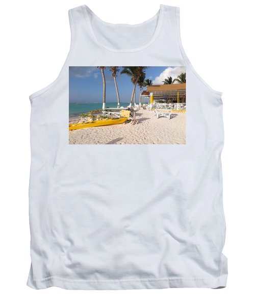 Tank Top featuring the photograph Cow Wreck Bay Beach Bar 2 by Eric Glaser