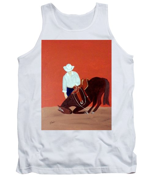 Cowboy And His Horse Tank Top