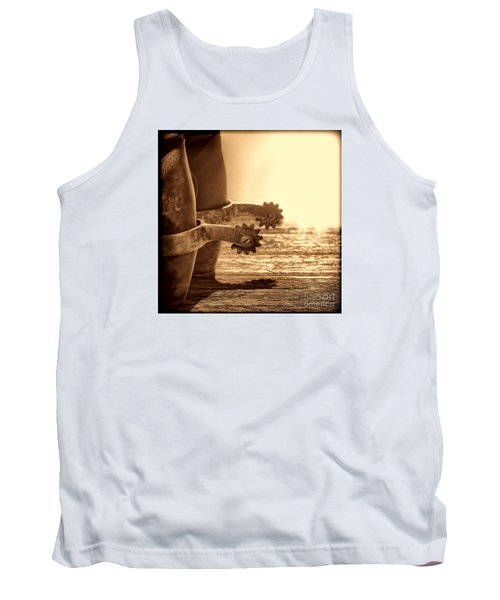 Cowboy Boots And Riding Spurs Tank Top by American West Legend By Olivier Le Queinec