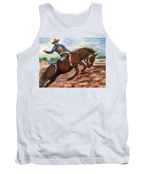 Cowboy In A Rodeo Tank Top