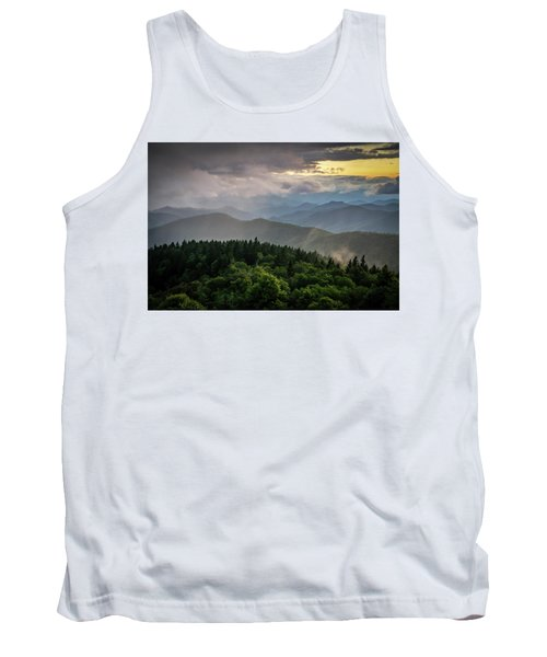 Cowee Mountain Sunset Tank Top by Serge Skiba