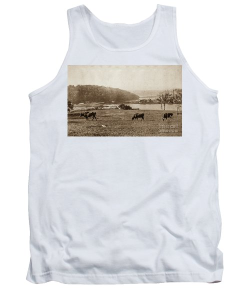 Tank Top featuring the photograph Cows On Baker Field by Cole Thompson