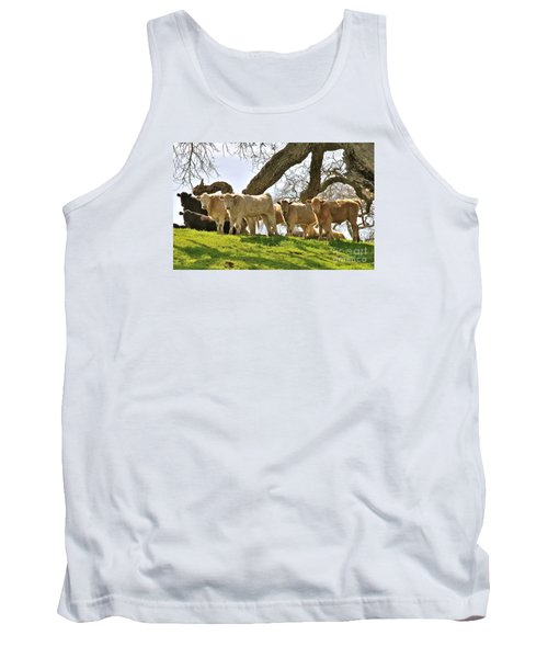 Cows Under Oak #2 Tank Top