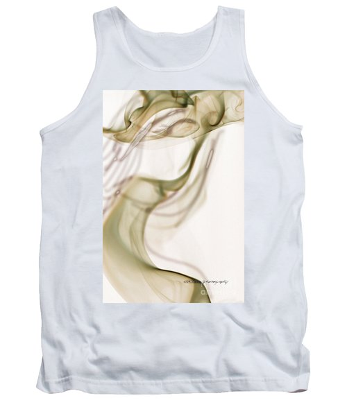 Coy Lady In Hat Swirls Tank Top