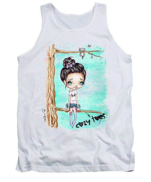 Tank Top featuring the painting Cozy Toes by Lizzy Love