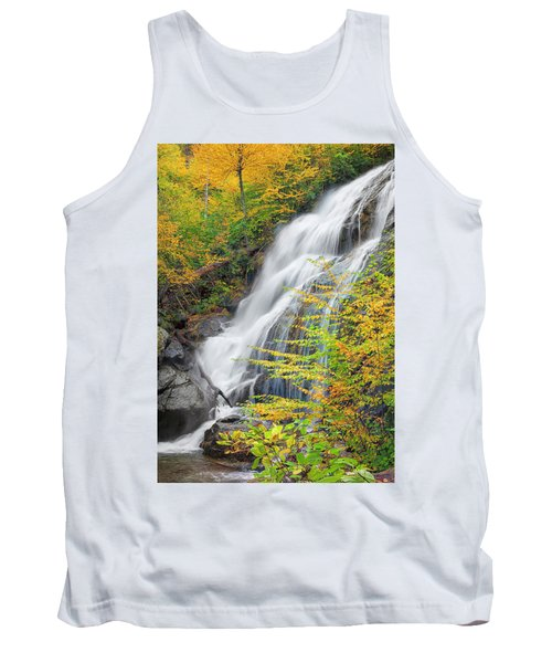 Crabtree Falls In The Fall Tank Top by David Cote