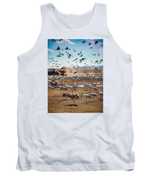 Cranes Feeding Tank Top