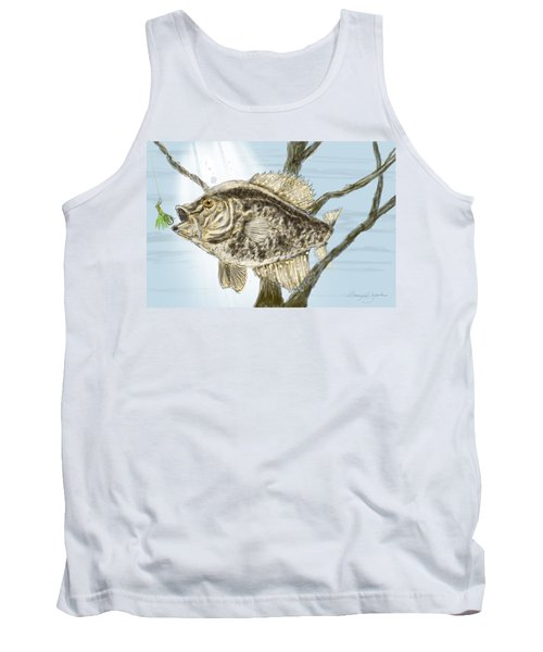 Crappie Time - 2 Tank Top by Barry Jones