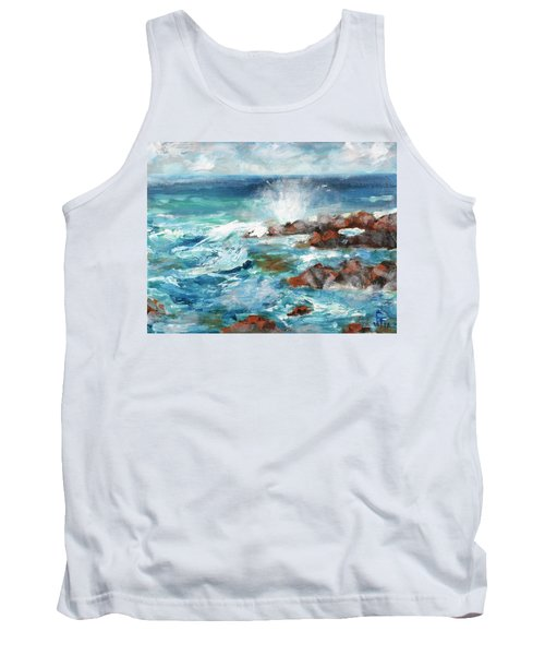 Crashing Waves Tank Top by Walter Fahmy