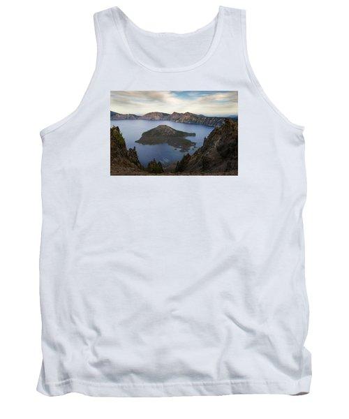 Crater Lake At Sunset Tank Top