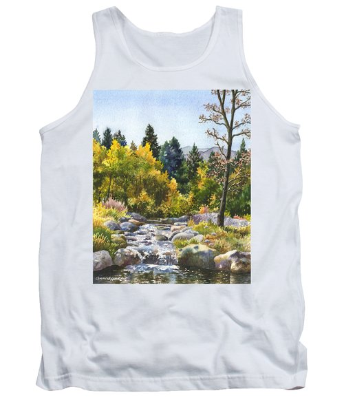 Tank Top featuring the painting Creek At Caribou by Anne Gifford