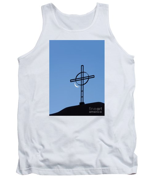 Crescent Moon And Cross Tank Top