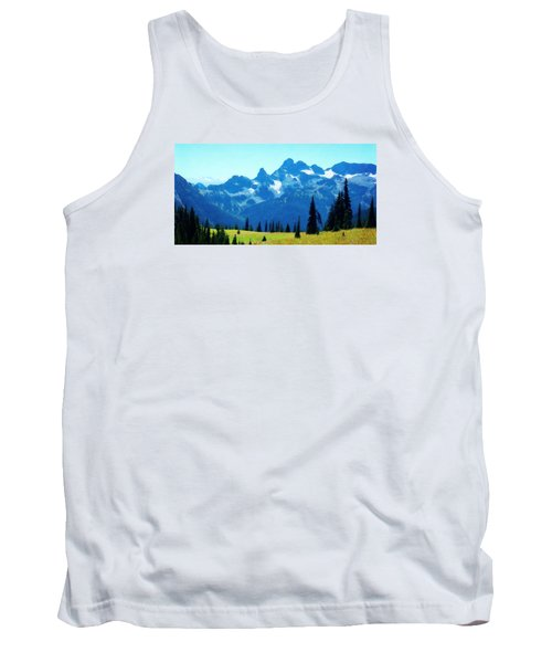 Tank Top featuring the photograph Crests And Gaps by Timothy Bulone