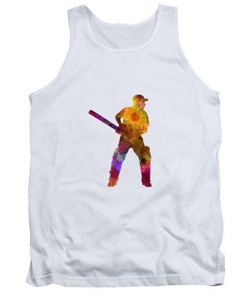 Cricket Player Batsman Silhouette 07 Tank Top