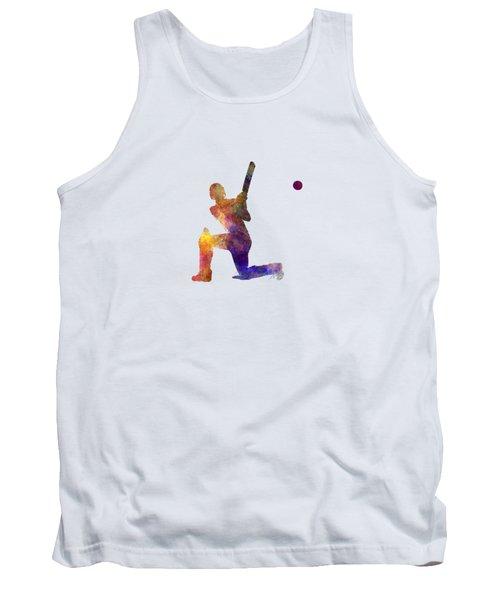 Cricket Player Batsman Silhouette 08 Tank Top