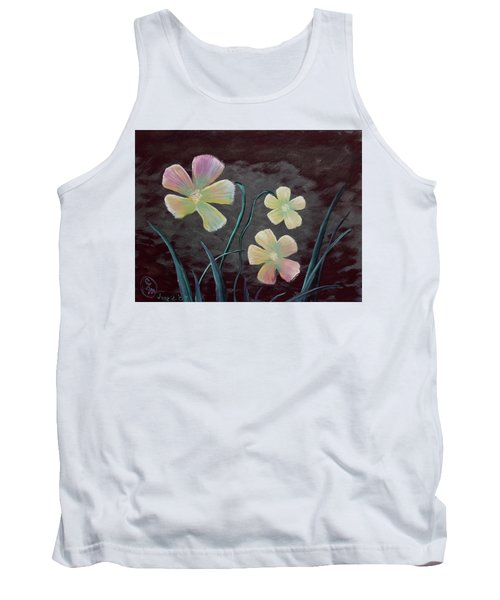 Crimson Flower Tank Top