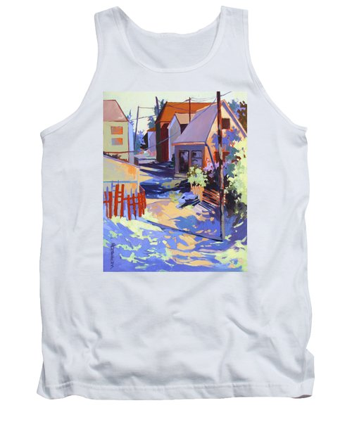 Tank Top featuring the painting Crisscross by Rae Andrews
