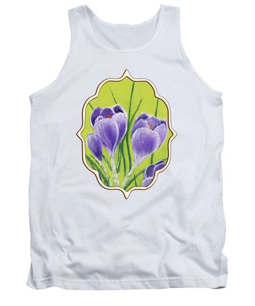 Crocus Tank Top by Anastasiya Malakhova