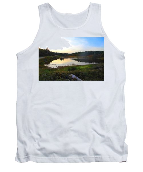 Tank Top featuring the photograph Crooked Lake Road by Jason Lees